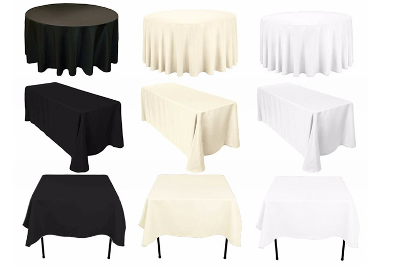 Heavy Duty Tablecloth – 3 Colours & 3 Shapes! from £6