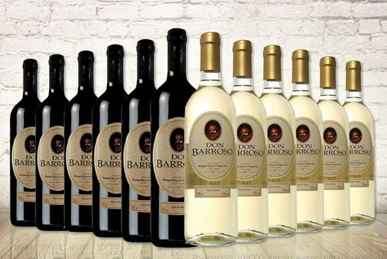 12 Bottles of Don Barroso Red & White Wine for £39.99