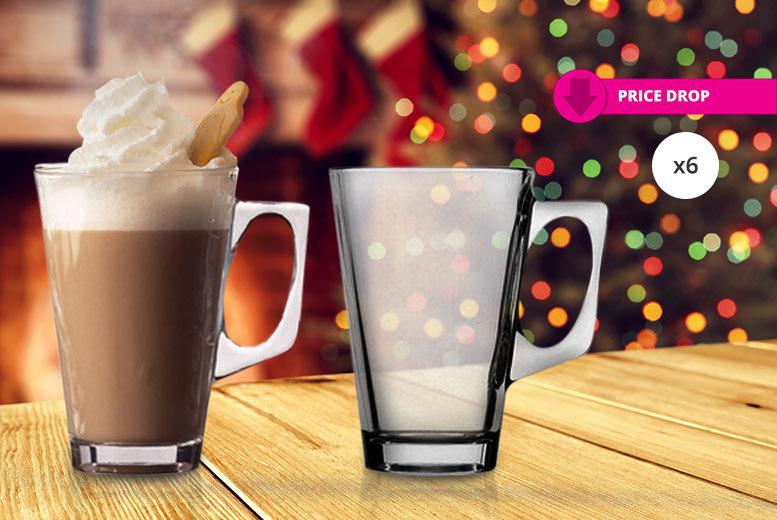 6 Glass Coffee Mugs for £4.99
