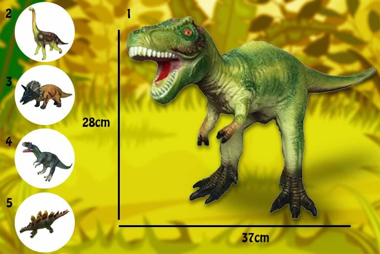1 or 2 Large Foam Rubber Jurassic Dinosaur Toy - 5 Choices!