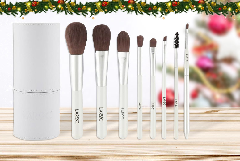 8pc Tube Makeup Brush Set - 3 Colours!