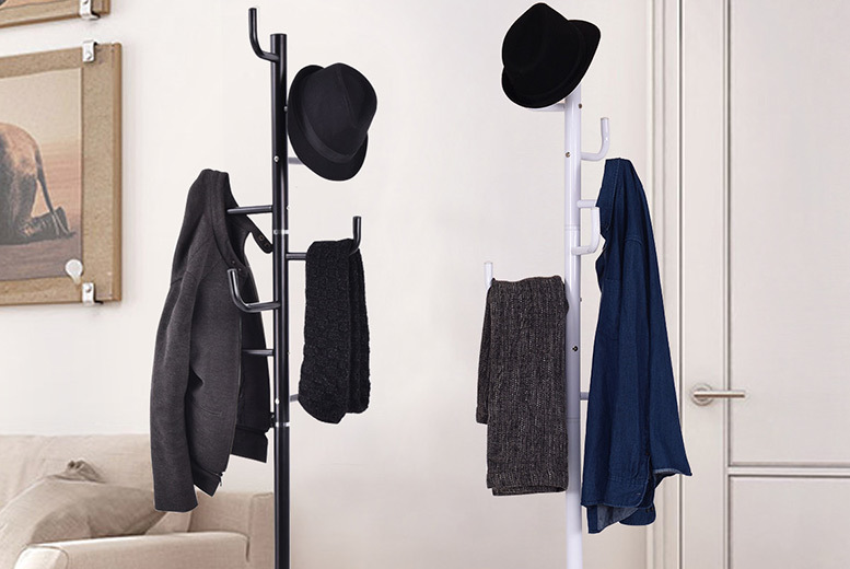 Free-Standing Metal Coat Stand-2 Colours! for £16.99