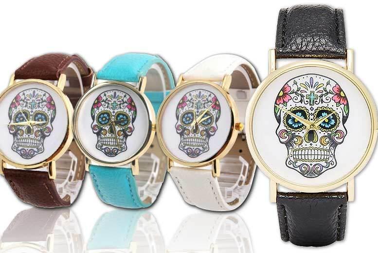 Vertex Dial Skull Watch - 4 Designs!