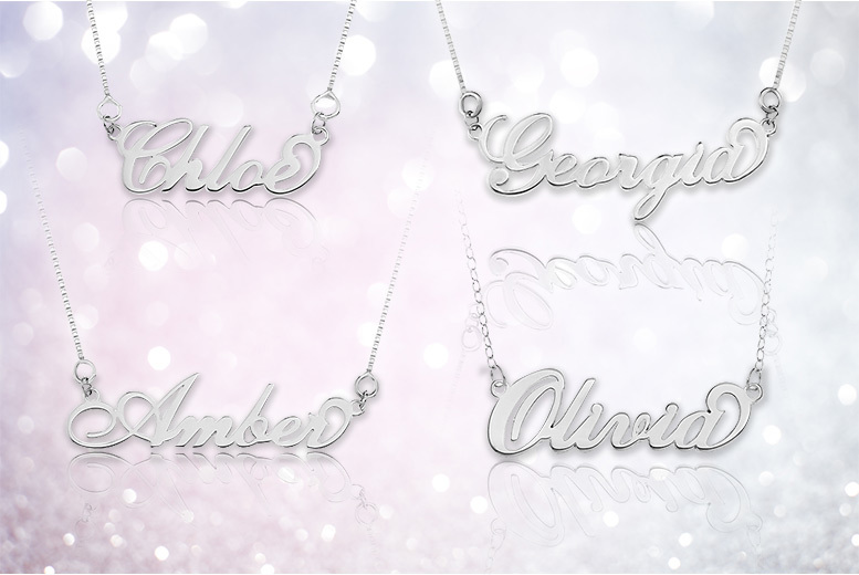 Sterling Silver Personalised Name Necklace for £12