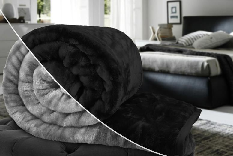 Super-Soft Faux-Mink Fur Throw - 14 Colours!