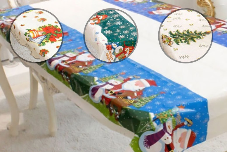 Christmas Themed Tablecloth – 4 Designs! for £2.99