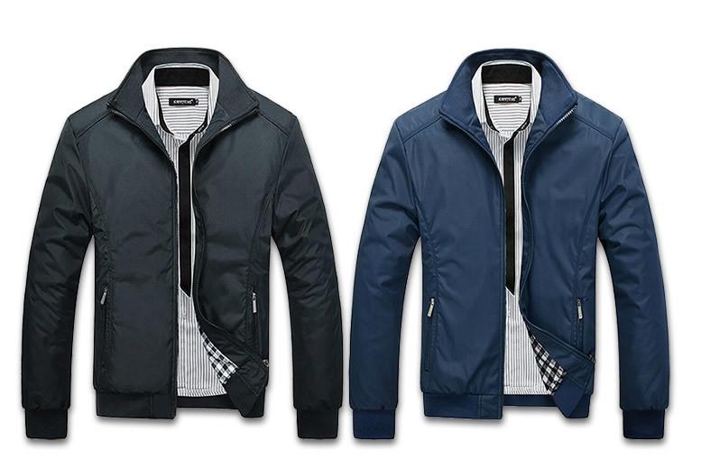 Men's Harrington Jacket – 2 Colours & 5 Sizes! for £14.99