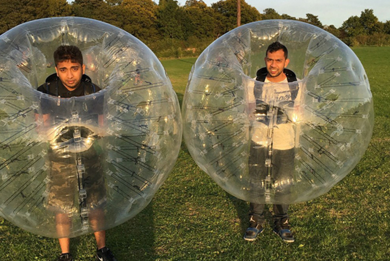 £132 instead of up to £360 for a 75-min Zorb football experience for up to 12 people at Zorb Strike, Ware - save up to 63%