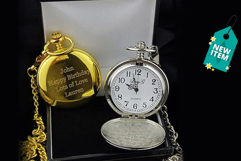 Personalised Pocket Watch - 2 Colours!