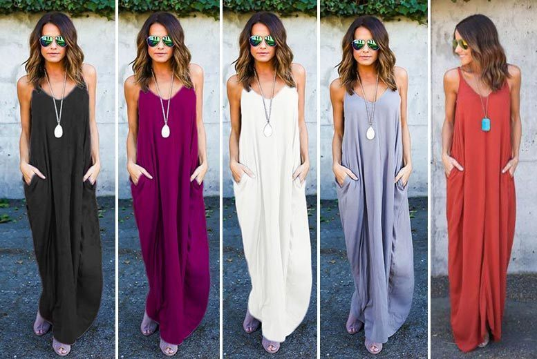 Floaty Strappy Maxi Dress – 5 Colours! for £12