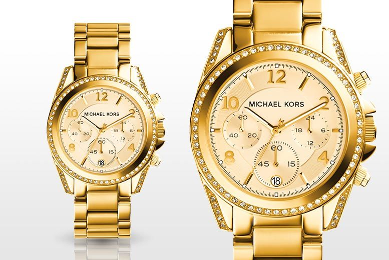 Ladies' Michael Kors MK5166 Mini Blair Gold-Tone Watch
