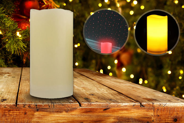 Festive Laser Projector LED Candle for £12.99