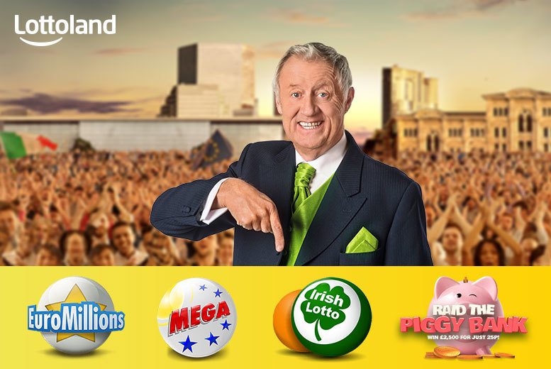 £2 instead of £7.25 (with Lottoland) for a bet on one line each in the EuroMillions, US MegaMillions, Irish Lotto and five 'Raid The Piggy Bank' scratchcards - save 72%