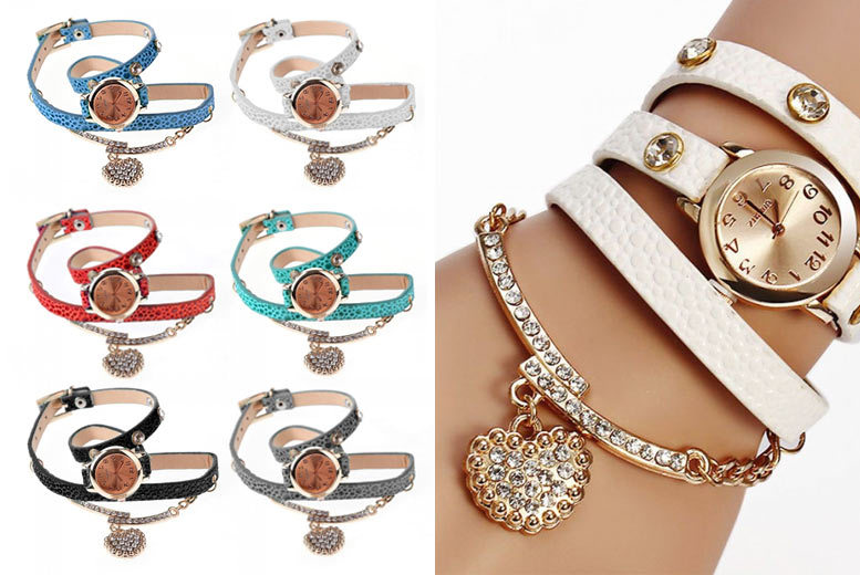 Emma Heart Wrap Watches - 6 Colours!