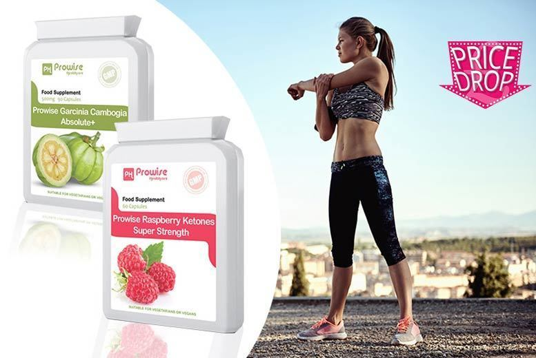 Super Strength' Raspberry Ketones & Garcinia Cambogia Capsules – 1mth or 2mth supply*! from £13.99