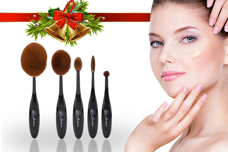 5pc Oval Brush Set for £6