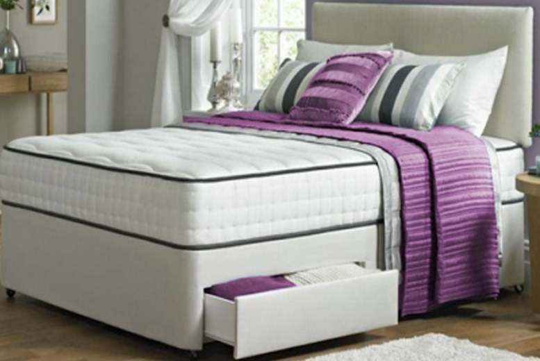 Kensington Divan Bed with Memory Foam Mattress & Drawer Options – 5 Sizes! from £119