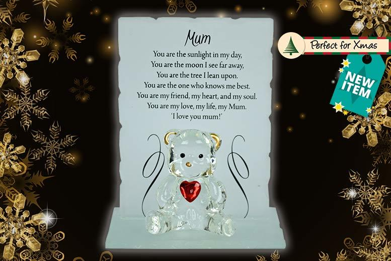 Glass Bear in Gift Box – 11 Designs! for £7.99