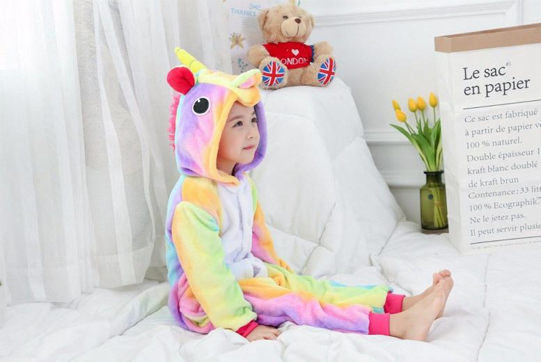 Kids' Rainbow Unicorn Onesie – 5 Sizes! for £12.99