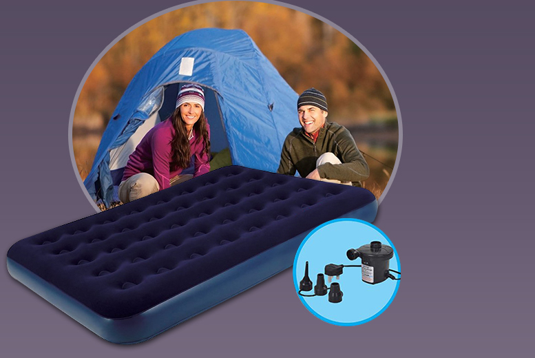 Double Flocked Inflatable Air Bed