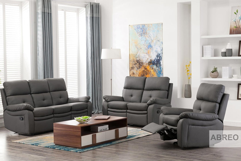 Padstow Luxury Reclining Leather Sofa Collection from £229