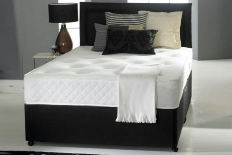 Victoria Divan Bed Set with Mattress, Headboard & Optional Drawers from £89