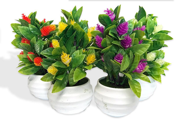 Set of 4 Artificial Indoor Plants