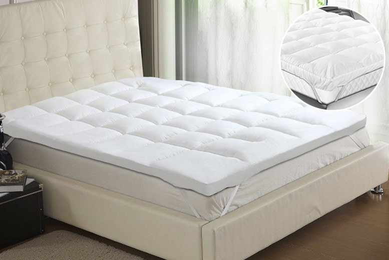5cm or 10cm Extra-Thick Bounce-Back Mattress Topper from £14.99