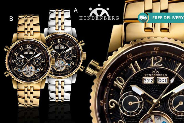 Men's Hindenberg 'Gold Edition' Air Professional Watch – 4 Designs!