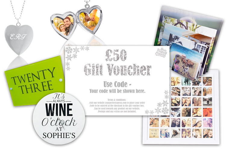£50 Your Perfect Canvas Gift Card for £10