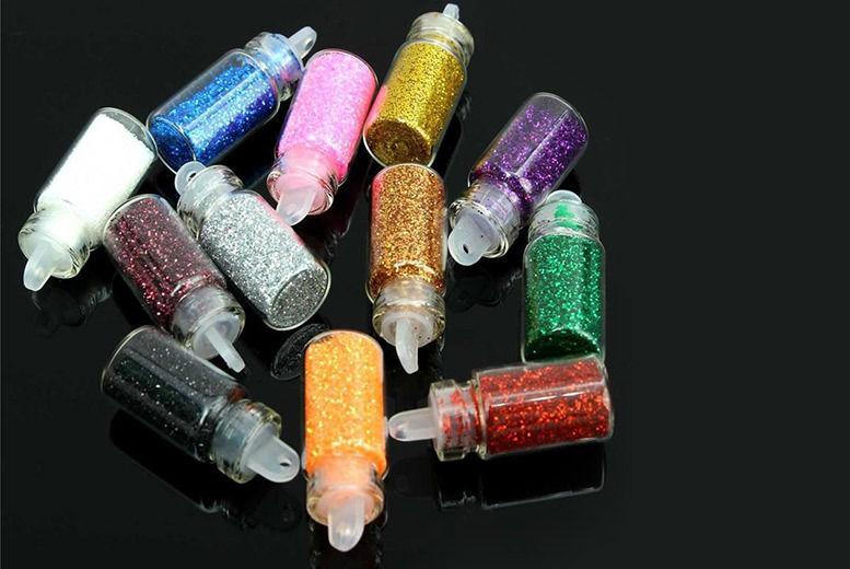 12 Mini Glitter Bottles – 3 Sets! from £6