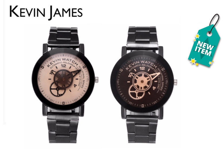 Men's Kevin James Turntable Watch - 2 Designs!
