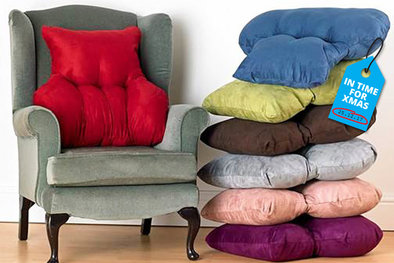 Faux Suede Back Support Cushion for £14