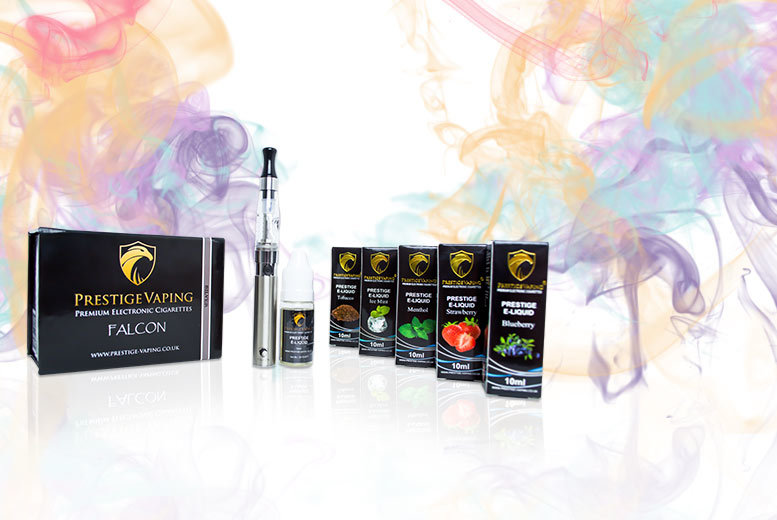 £19.99 instead of £39.99 (from Prestige Vaping) for an 11-piece e-cigarette starter kit with six e-liquids - pick from a variety of flavours and save 50%
