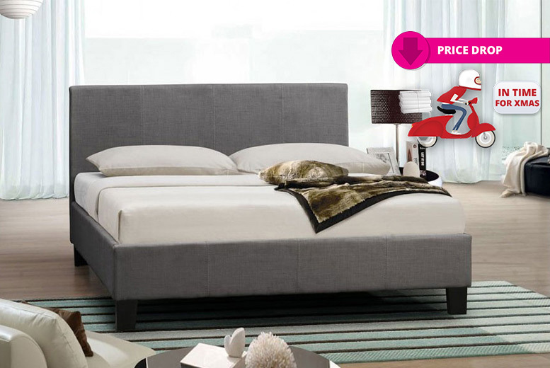 Italian Designer Fabric Bed with Optional Memory Foam Mattress from £69
