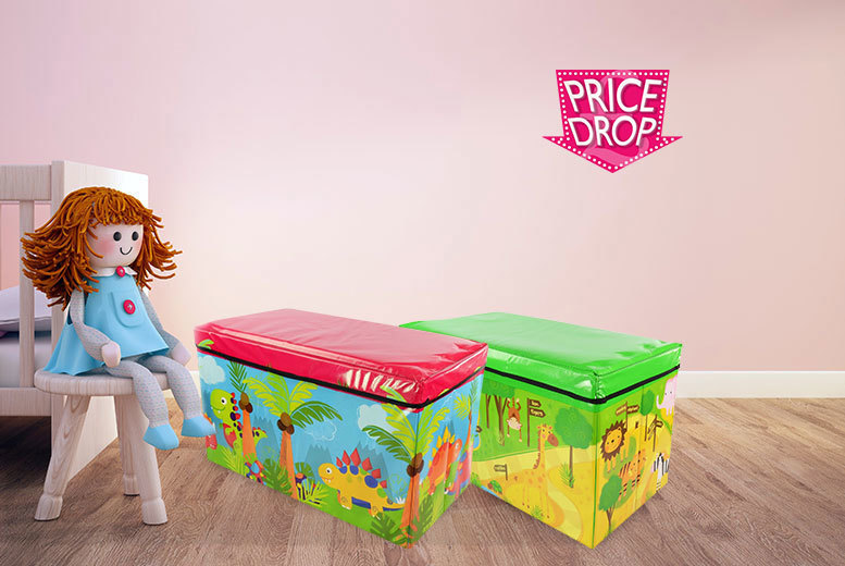 £9.99 instead of £26 (from Funky Buys) for a children's storage box seat - choose from six fun designs including princess, dinosaur and jungle and save 62%
