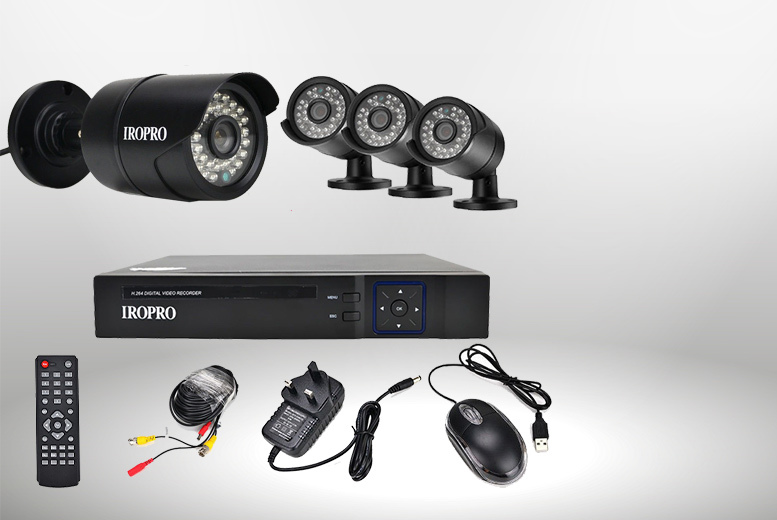 £149 instead of £395 (from EF Mall) for a Iropro 8 Channel HD CCTV Kit with 1 Terabyte Hard drive - save 62%
