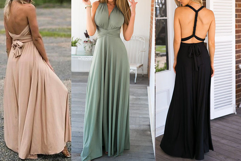 Multiway Convertible Maxi Dress – 3 Colours! for £16