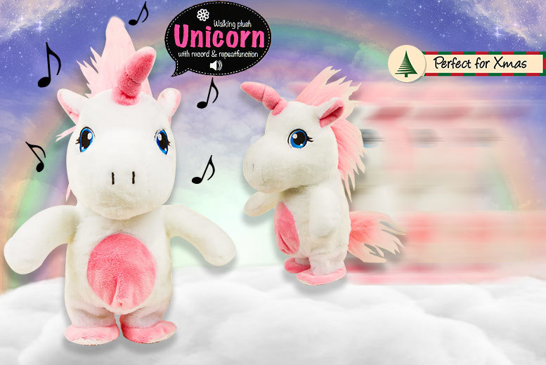 Walking, Talking, Voice-Recording Interactive Unicorn for £14.99