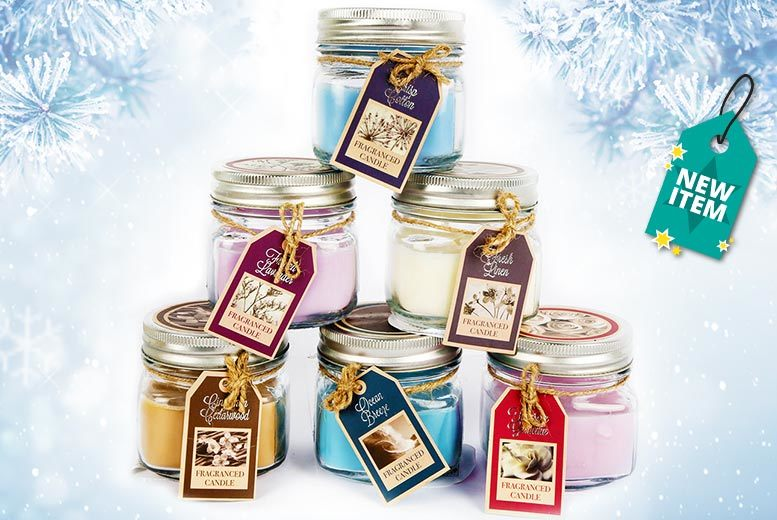 3 or 6 Scented Candles in Glass Pots from £5