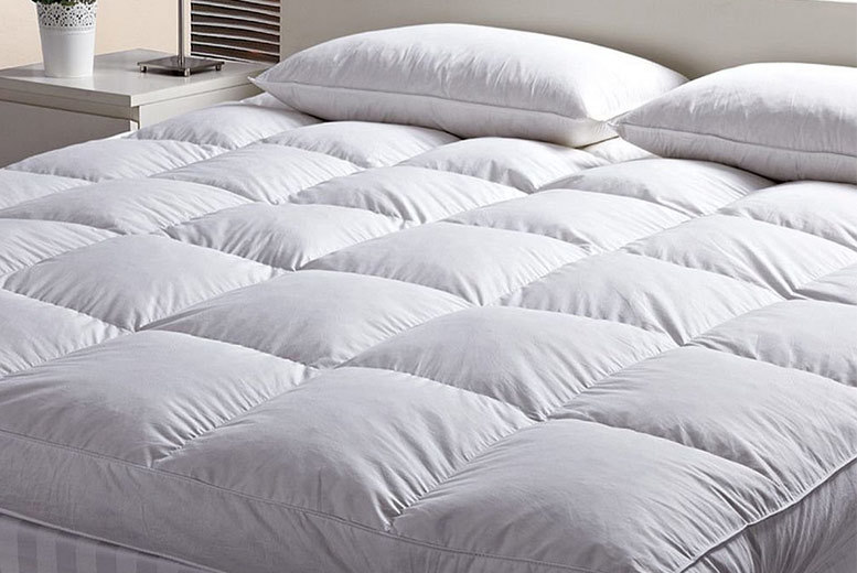 2 or 4″ Deep-Filled Quilted Mattress Topper from £14.99