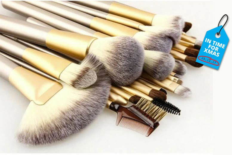 12pc Champagne Makeup Brush Set for £9.99