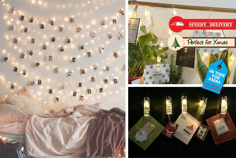 36 LED Photo Clip String Lights for £8.99