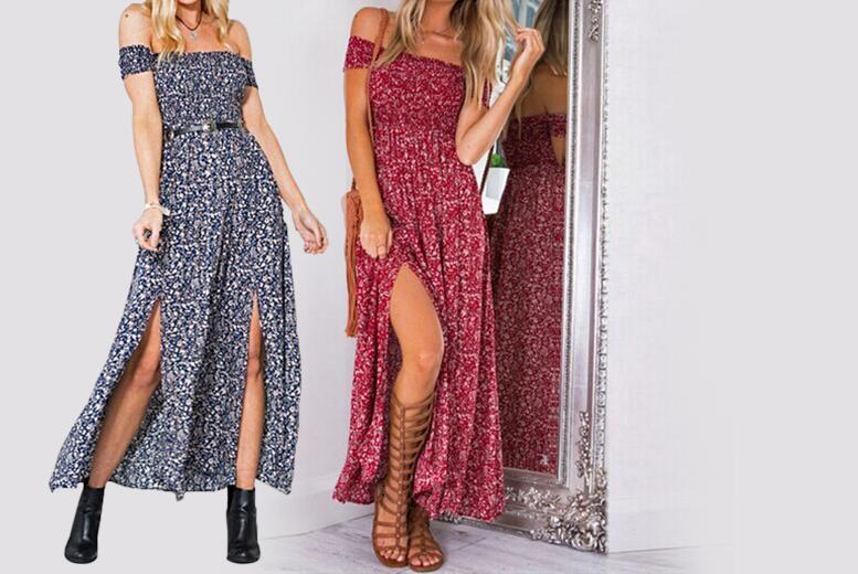 Split Maxi Dress – 2 Colours! for £12