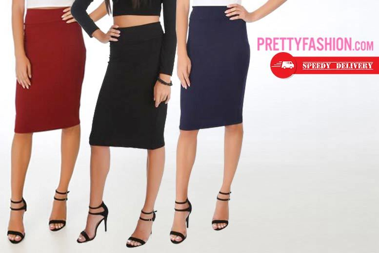 Knee Length Pencil Skirt – 3 Colours! for £6