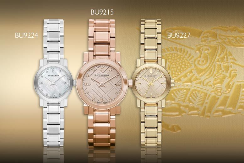 £169 for a ladies' luxury Burberry watch - choose from six styles and save up to 72%