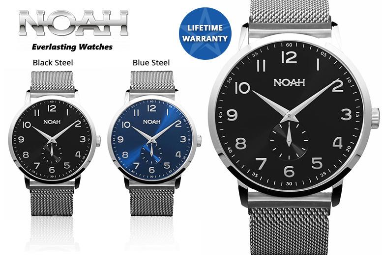 Luxury Noah 'Slim-Line' Collection Mesh Watches - 4 Designs!