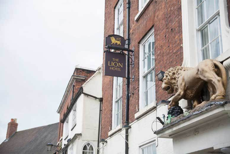 £99 (at The Lion Hotel, Shrewsbury) for an overnight stay for two people with a three-course dinner, Prosecco and breakfast, £149 for two nights - save up to 40%