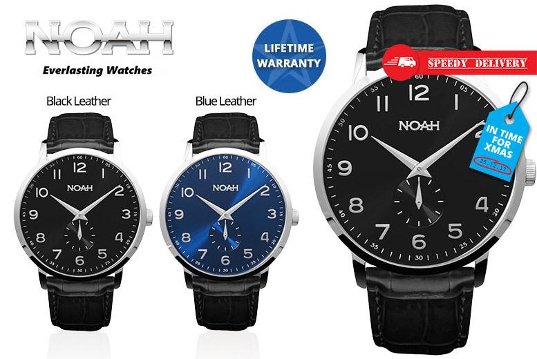 Noah 'Slimline' Leather Watch - Includes Lifetime Warranty!