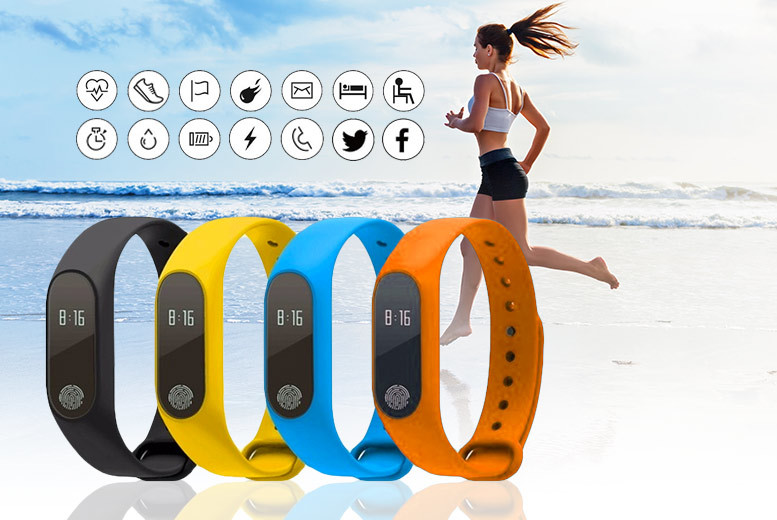 14-in-1 Fitness Tracker with Heart Rate Monitor – 6 Colours! for £19